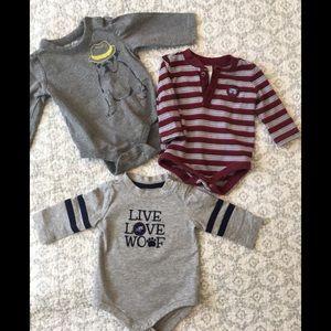 Gymboree and Baby Gap onesies
